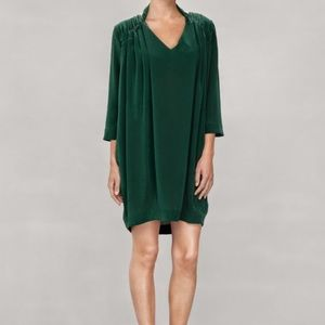 & other stories Mulberry Silk Tunic Shift Dress